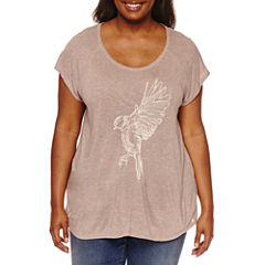 Boutique + Short Sleeve Scoop Neck Graphic T-Shirt