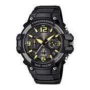 Casio® Mens Black Resin Strap Chronograph Sport Watch MCW100H-9AVCF
