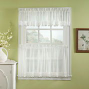 Ashlyn Voile Rod-Pocket Kitchen Curtains