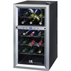 Kalorik 18-Bottle Dual-Temp Wine Cooler
