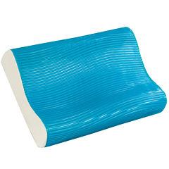 Comfort Revolution Cooling Wave Gel Memory Foam Contour Pillow