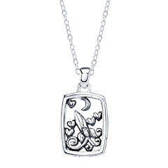 Footnotes® Sterling Silver Love You To The Moon Pendant Necklace