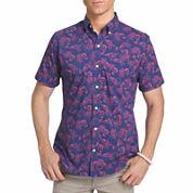 IZOD Short Sleeve Camp Shirt-Big and Tall