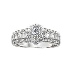 5/8 CT. T.W. Diamond Pear-Style Engagement Ring
