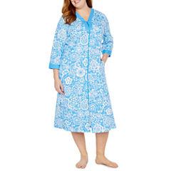 By Miss Elaine 3/4 Sleeve Robe-Plus
