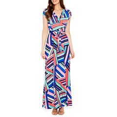 R & K Originals Short Sleeve Maxi Dress