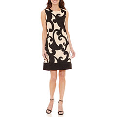 Alyx Sleeveless Scroll Shift Dress