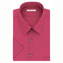 Van Heusen Easy-Care Poplin Short Sleeve Dress Shirt