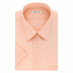 Van Heusen Easy-Care Poplin Short Sleeve Dress Shirt
