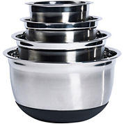 Denmark® 4-pc. Stainless Steel Mixing Bowl Set with Silicone Base