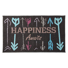 Home Expressions Happiness Rectangular Rug