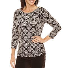 Lark Lane 3/4 Sleeve Scoop Neck T-Shirt
