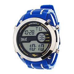 Everlast® Mens Blue Silicone Strap Watch