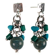 Aris by Treska Blue Silver-Tone Drop Earrings