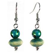 Aris by Treska Blue and Silver-Tone Linear Wire Earrings