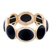 Monet® Black and Gold-Tone Stretch Bracelet