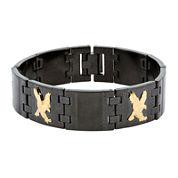 Mens Black Stainless Steel Eagle Chain Bracelet