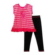 Youngland® 2-pc. Short-Sleeve Top and Leggings Set - Preschool Girls 4-6x
