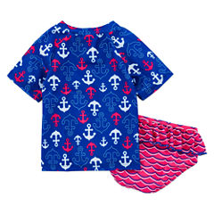 Pattern Rash Guard Set - Preschool