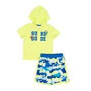 Wippette 2-pc. Surf Dude Swim Trunk Set - Baby Boys newborn-24m