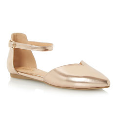 Head Over Heels by Dune Hyrah Ankle Strap Ballet Flats