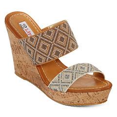2 Lips Too Hazel Beaded Wedge Sandals