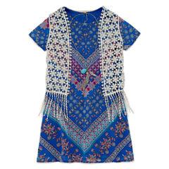 Rare EditionsChiffon Vest Dress- Preschool Girls