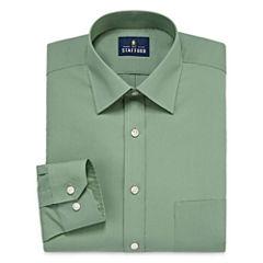Stafford Travel Easy-Care Broadcloth-Big & Tall Long Sleeve Dress Shirt