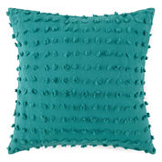 JCPenney Home™ Cotton Classics Chenille Dot Square Decorative Pillow
