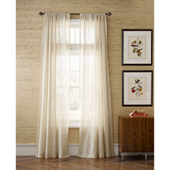 MarthaWindow™ Artistry Embroidered Rod-Pocket Sheer Panel