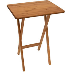 Bamboo Snack TV Tray Table without Lip