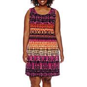 RN Studio by Ronni Nicole® Sleeveless Pleated Dress - Plus