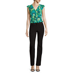Worthington® Sleeveless Ruffle Button-Down Blouse or Straight-Leg Pants