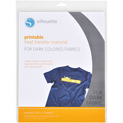 Silhouette Printable Heat Transfer for Dark Fabrics