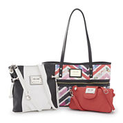 nicole by Nicole Miller® Chevron Handbag and Wallet Collection