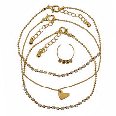Arizona Womens 4-pc. Clear Jewelry Set