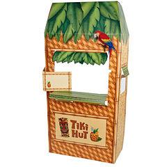 Jungle Party Tiki Hut Cardboard Cutout Standee - 5.5' Tall