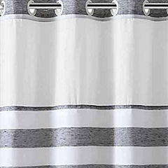 Hookless Yarndye Stripe Linen Shower Curtain
