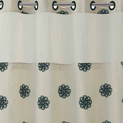 Hookless Sunburst Floral Shower Curtain