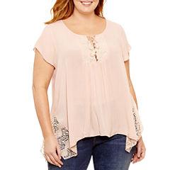 Unity World Wear Short Sleeve Scoop Neck T-Shirt-Plus