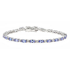 LIMITED QUANTITIES Genuine Oval Tanzanite Sterling Silver Bracelet 1