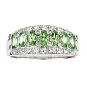 LIMITED QUANTITIES Tsavorite Sterling Silver Ring