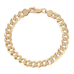 Mens 18K Yellow Gold Over Silver 8