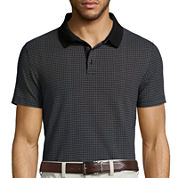 Claiborne® Grid Polo Shirt - Slim Fit
