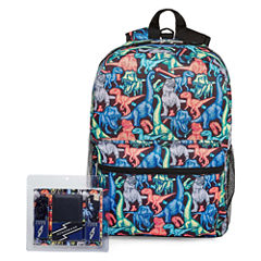 Dino Print Back Pack with Power Bank & Earbud