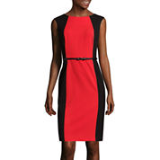 Alyx® Sleeveless Colorblock Belted Sheath Dress