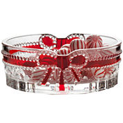 Mikasa® Celebrations Red Ribbon Oval Candy Dish
