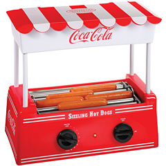 Nostalgia HDR565COKE Coca-Cola Hot Dog Roller withBun Warmer