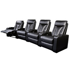 Dallas Home Theater Faux-Leather Recliner Collection