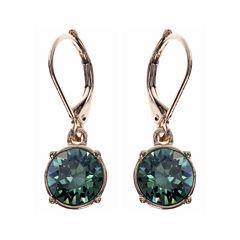 Gloria Vanderbilt® Gold-Tone Erinite Crystal Drop Earrings